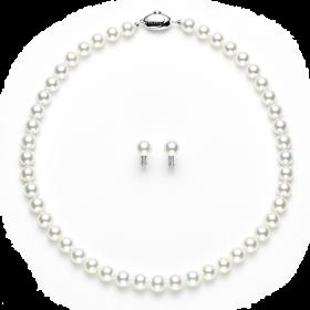 真珠ネックレス イヤリング