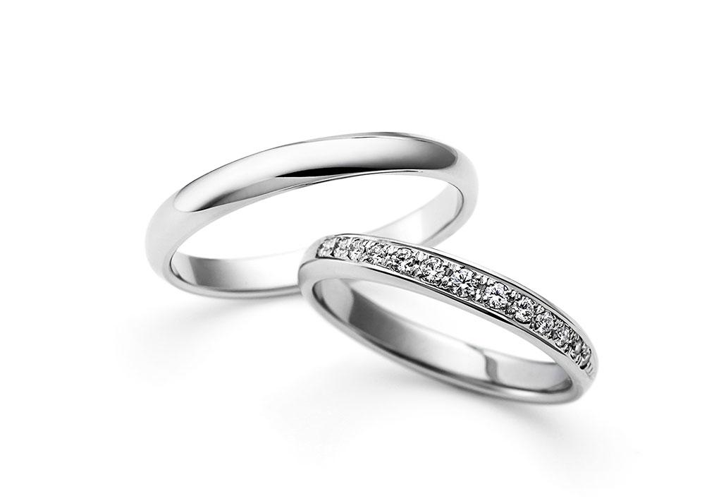 結婚指輪 デザイン ハーフエタニティー