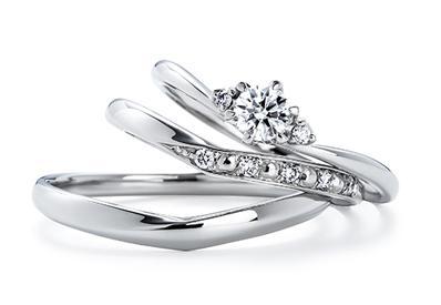いい夫婦ブライダル Set Ring No.8